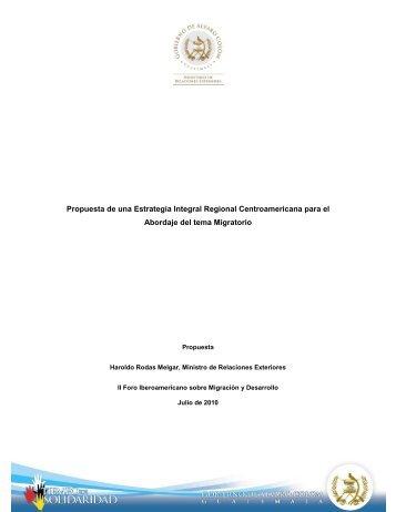Propuesta de una Estrategia Integral Regional Centroamericana ...