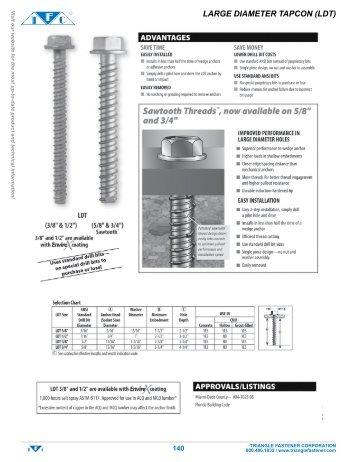 Large Diameter - Triangle Fastener