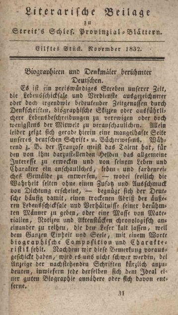 S iterarifcfye 3 5 eila S« GilfteS ©tittf. Koöembcr 1832. ©eutfcfyen. £3 ...