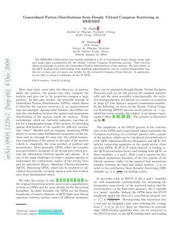 arXiv:0905.1220v2 [hep-ph] 4 Dec 2009 - Nuclear Physics