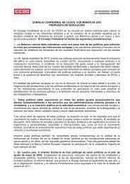 Resolución de CCOO y UGT convocando la Huelga General