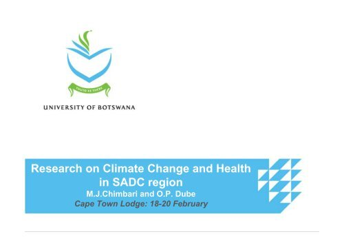 Research on Climate Change and Health in SADC region - DDRN