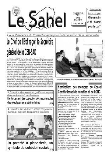 Le Sahel - Nigerdiaspora