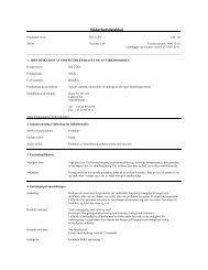 Sikkerhedsdatablad - KGK A/S