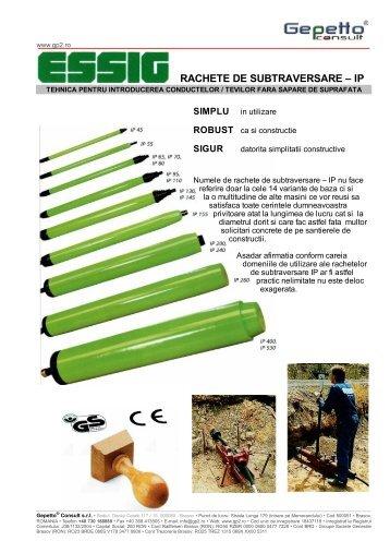 Essig-prezentare Generala Rachete Subtraversare - Gepetto® Consult