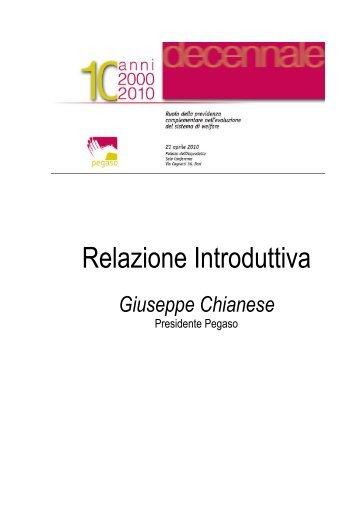 Relazione Bari 20 aprile 2010 - Pegaso