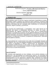Pruebas y Mantenimiento Eléctrico - Instituto Tecnológico de ...