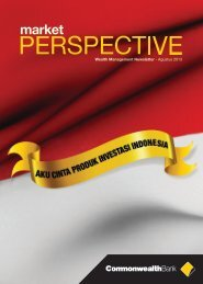 Market Perspective August 2013 - Commonwealth Bank