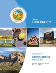 Recruit_pkt_PRL&CR Director.indd - Arizona Parks and Recreation ...
