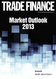 TRADE FINANCE Market Outlook 2013