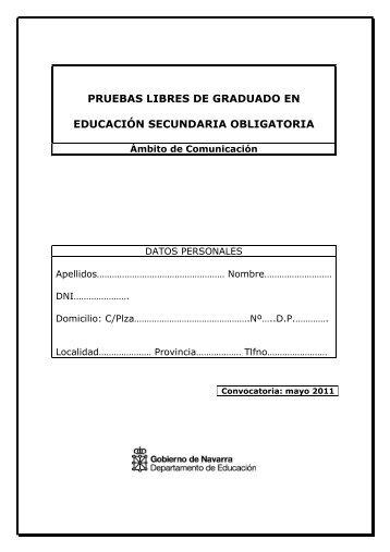 PRUEBA LIBRE Ámbito de Comuniciación mayo 2011 - Navarra