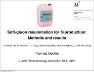 Soft-gluon resummation for H-production - Zurich Phenomenology ...