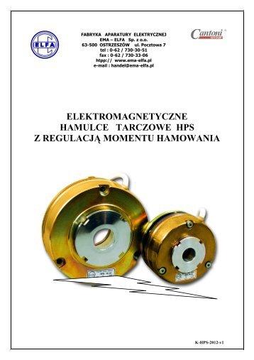 elektromagnetyczne hamulce tarczowe hps z ... - Cantoni Group