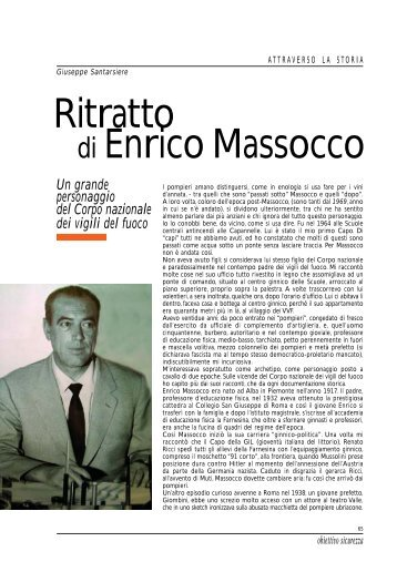 Ritratto di Enrico Massocco - Obiettivo Sicurezza - Corpo Nazionale ...