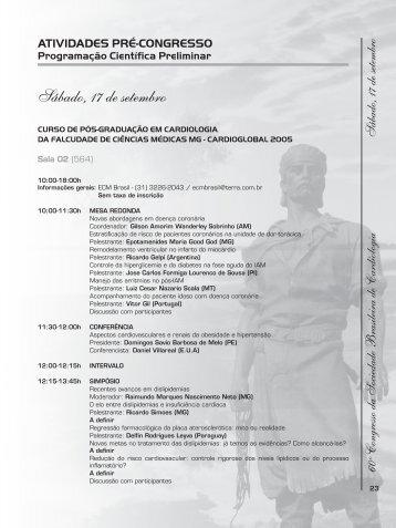 terceira circular.indd - 66 Congresso Brasileiro de Cardiologia