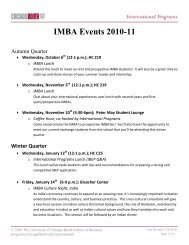 IMBA Events 2010-11 - Chicago Booth Portal - The University of ...