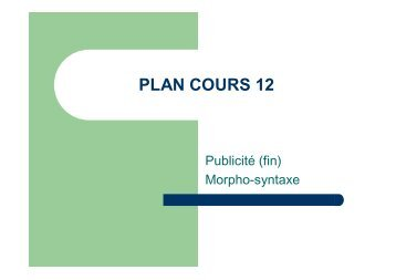 PLAN COURS 12