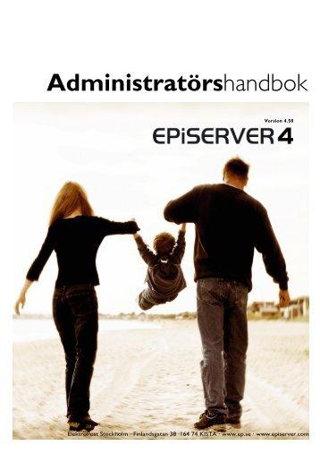Administratörshandbok EPiServer 4 - EPiServer World