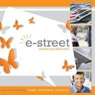 """innovation delivered"" Our mission statement - e-street"