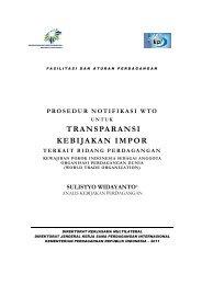 TRANSPARANSI KEBIJAKAN IMPOR - Direktorat Jenderal KPI