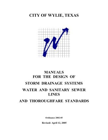 Storm Drainage Systems Manual - City of Wylie
