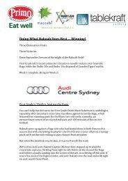 Feds Newsletter - maccabi.com.au