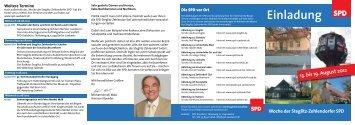 Einladung 13. bis 19. August 2012 - SPD Steglitz-Zehlendorf