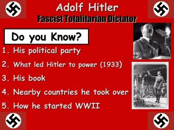 Adolf Hitler Do you Know?