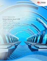 Extending Traditional Security to VDI: Are Your ... - Trend Micro
