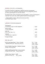 Karte Neu Juli 2012 -Pfifferlinge- + Aktion Garten - Gasthof Pflug ...