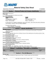 MSDS - Specialtyproducts.net