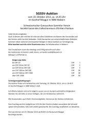 SGSSV-Auktion - Schweizerischer Ganzsachen-Sammler-Verein