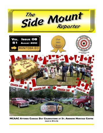 ISSUE 08 VOL. - Manitoba Classic and Antique Auto Club