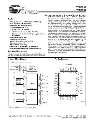 Programmable Skew Clock Buffer - CDF