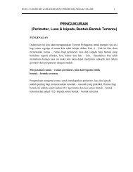 PENGUKURAN (Perimeter, Luas & Isipadu Bentuk-Bentuk Tertentu)