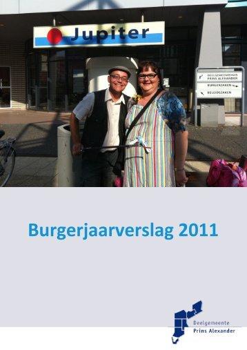 Burgerjaarverslag 2011 - Prins Alexander