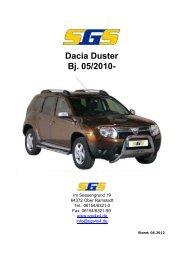 Felgen Programm Dacia Duster Bj. 05/2010 - SGS