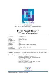 """D14.17 """"Yearly Report """" (2 year of the project) - GridLab"""