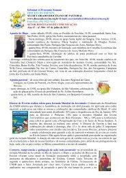Informativo Semanal do dia 07 de Julho - Diocese de Erexim