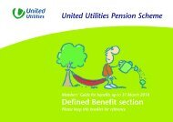 Defined Benefit Section - United Utilities