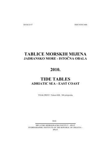 Mijene 2010.pdf - Hrvatski hidrografski institut