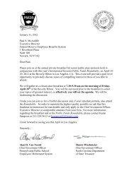 January 31, 2012 Paul S. McAuliffe Executive Director Federal ...