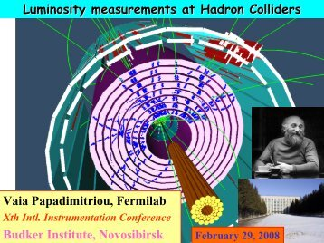 L - 10th International Conference on Instrumentation for Colliding ...