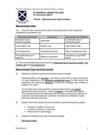 2012 JC2 H1 Macro Aims & Issues Tutorial (Tutor's ... - ASKnLearn