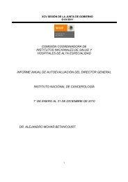 Informe de Autoevaluación 01-2011 - Instituto Nacional de ...