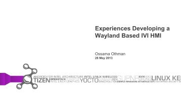 Experiences Developing a Wayland-Based IVI HMI - The Linux ...