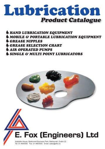 Lubrication Product Catalogue 2010.pdf - E. Fox (Engineers)