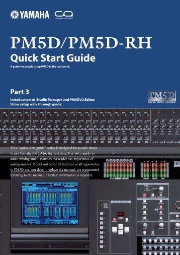 PM5D Quick Start Guide Part3 - Yamaha Downloads