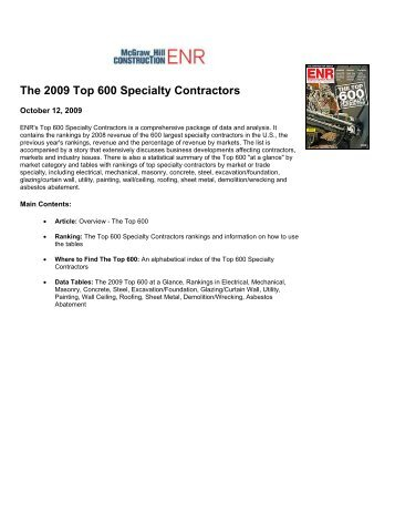 The 2009 Top 600 Specialty Contractors - Nicholson Construction ...