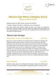 Massira Spa Menu Category Serve